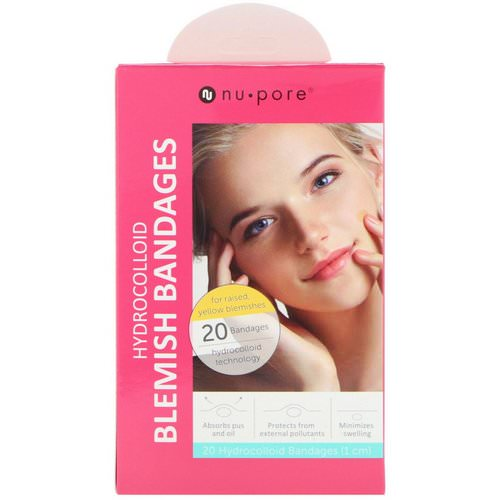 Nu-Pore, Hydrocolloid Blemish Bandages for Raised, Yellow Blemishes, 20 Bandages Review
