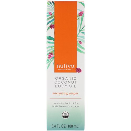 Nutiva, Organic Coconut Body Oil, Energizing Ginger, 3.4 fl oz (100 ml) Review