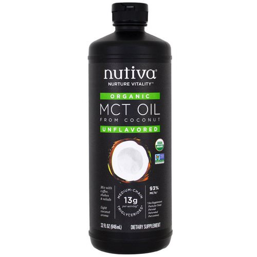 Nutiva, Organic MCT Oil From Coconut, Unflavored, 32 fl oz (946 ml) Review