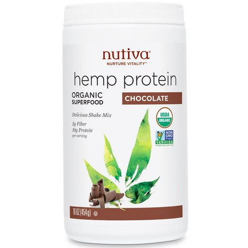 Nutiva, Organic Superfood, Hemp Protein Shake Mix, Chocolate, 16 oz (454 g) Review