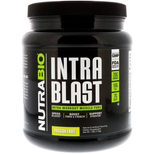 NutraBio Labs, Intra Blast, Passion Fruit, 1.6 lb (718 g) Review