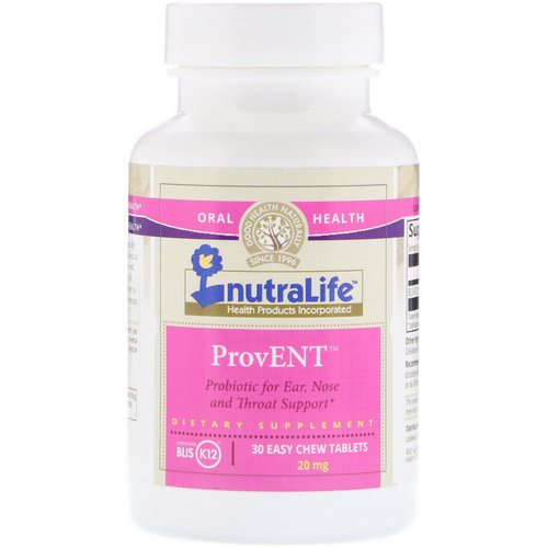 NutraLife, ProvENT with Blis K12, 20 mg, 30 Easy Chew Tablets Review