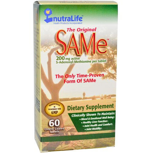 NutraLife, The Original SAM-e (S-Adenosyl-L-Methionine), 200 mg, 60 Enteric Coated Tablets Review