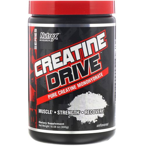 Nutrex Research, Creatine Drive, Unflavored, 10.58 oz (300 g) Review