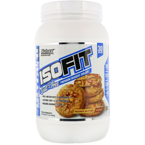 Nutrex Research, Isofit, Peanut Butter Toffee, 2.3 lbs (1026 g) Review