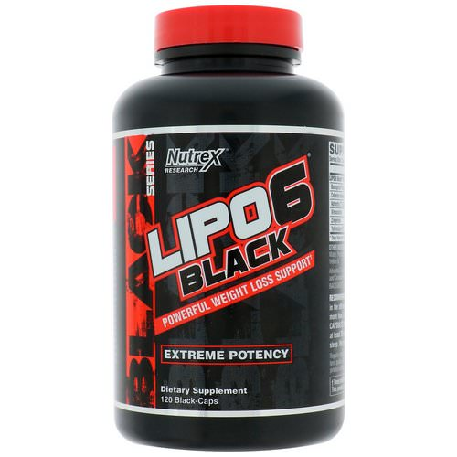 Nutrex Research, Lipo-6 Black, Extreme Potency, Weight Loss, 120 Black-Caps Review