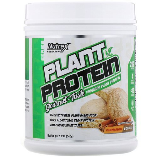 Nutrex Research, Natural Series, Plant Protein, Cinnamon Cookies, 1.2 lb (545 g) Review