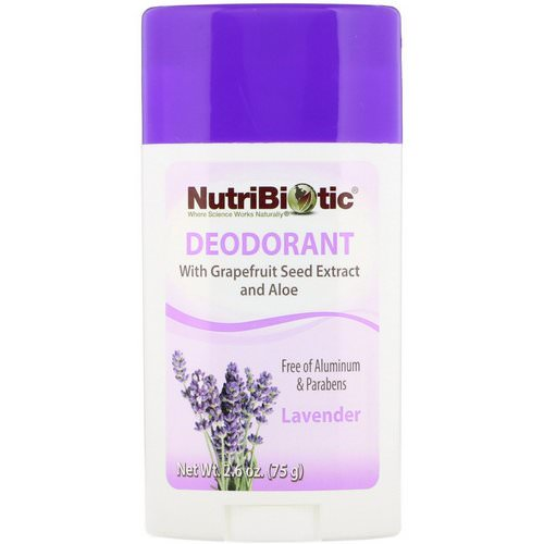 NutriBiotic, Deodorant, Lavender, 2.6 oz (75 g) Review