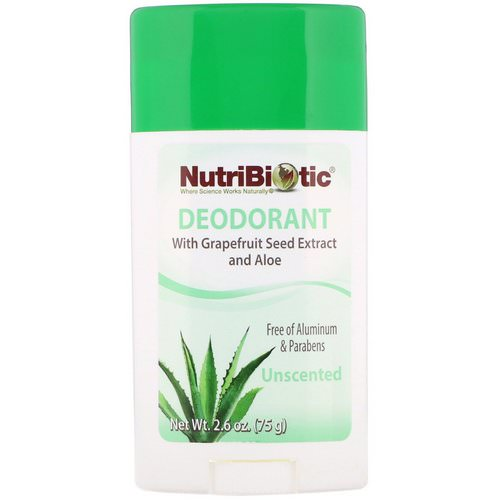 NutriBiotic, Deodorant, Unscented, 2.6 oz (75 g) Review