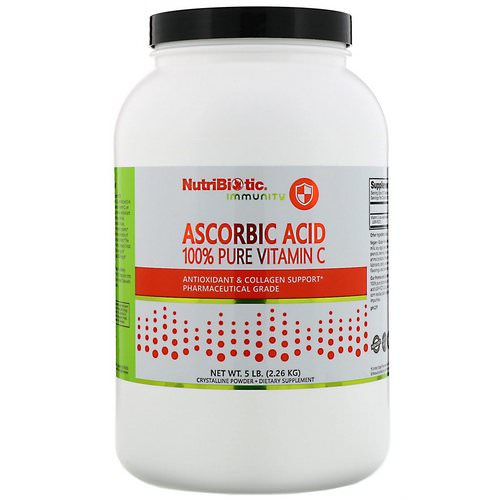 NutriBiotic, Immunity, Ascorbic Acid, 100% Pure Vitamin C, Crystalline Powder, 5 lb (2.26 kg) Review
