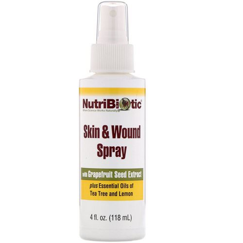 NutriBiotic, Skin & Wound Spray with Grapefruit Seed Extract, 4 fl oz (118 ml) Review