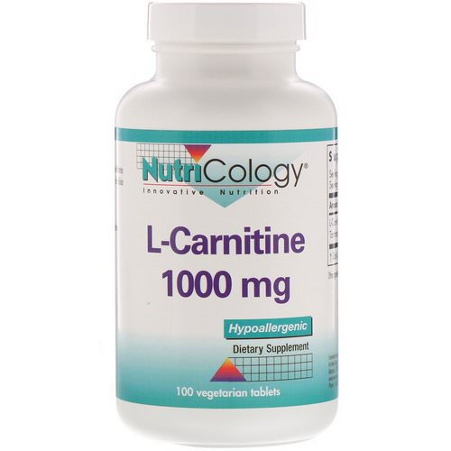 Nutricology, L-Carnitine, 1000 mg, 100 Vegetarian Tablets Review