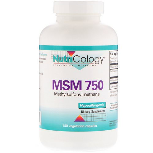 Nutricology, MSM 750, 150 Vegetarian Capsules Review