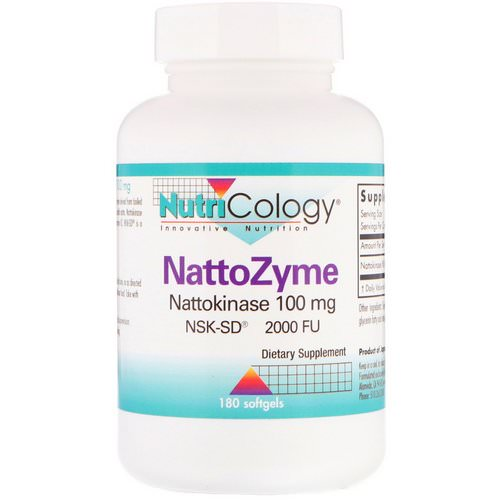 Nutricology, NattoZyme, 100 mg, 180 Softgels Review