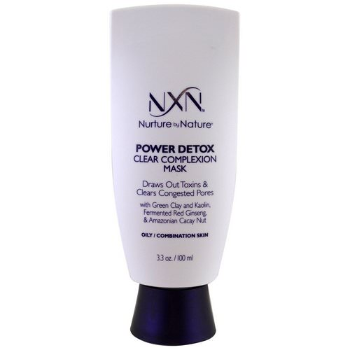 NXN, Nurture by Nature, Power Detox, Clear Complexion Mask, Oily / Combination Skin, 3.3 oz (100 ml) Review