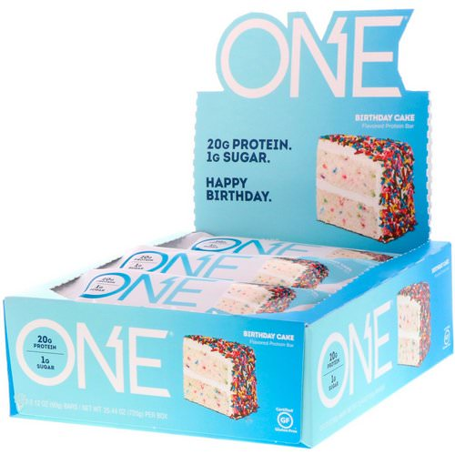 One Brands, One Bar, Birthday Cake, 12 Bars, 2.12 oz (60 g) Each Review