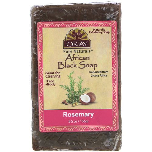Okay, African Black Soap, Rosemary, 5.5 oz (156 g) Review