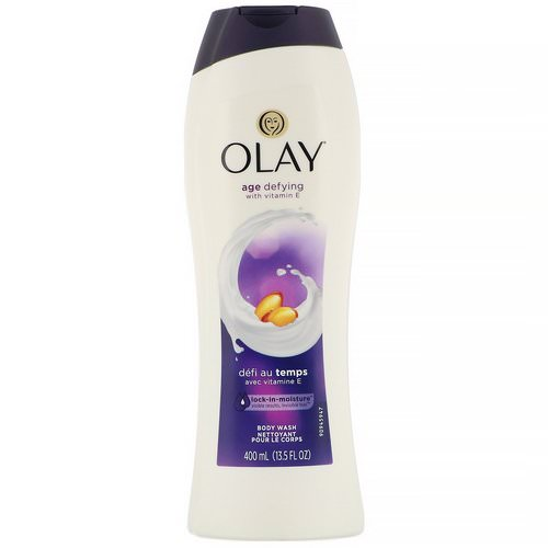 Olay, Age Defying Body Wash with Vitamin E, 13.5 fl oz (400 ml) Review