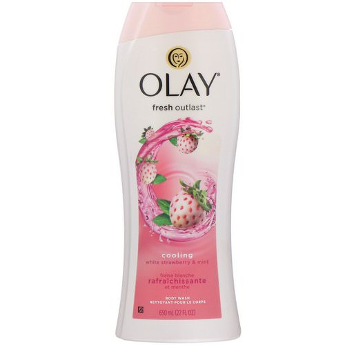 Olay, Fresh Outlast Body Wash, Cooling White Strawberry & Mint, 22 fl oz (650 ml) Review