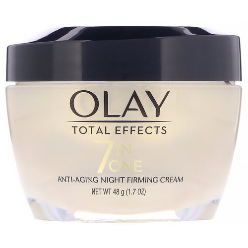 Olay, Total Effects, 7-in-One Anti-Aging Night Firming Cream, 1.7 oz (48 g) Review