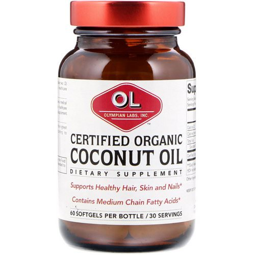 Olympian Labs, Certified Organic Coconut Oil, 60 Softgels Review