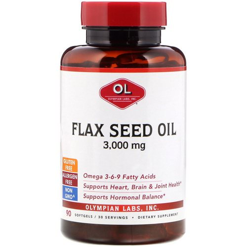 Olympian Labs, Flax Seed Oil, 3,000 mg, 90 Softgels Review