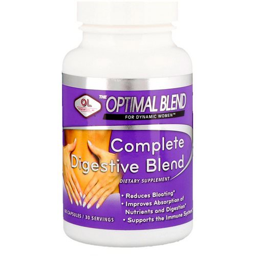 Olympian Labs, Optimal Blend, Complete Digestive Blend, For Women, 60 Capsules Review
