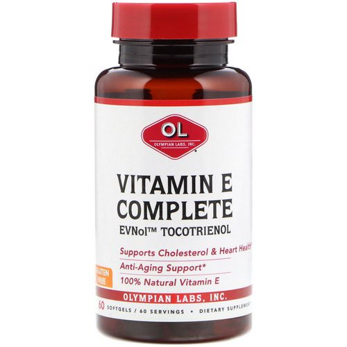 Olympian Labs, Vitamin E Complete, 60 Softgels Review