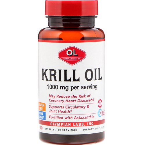 Olympian Labs, Krill Oil, 1000 mg, 60 Softgels Review