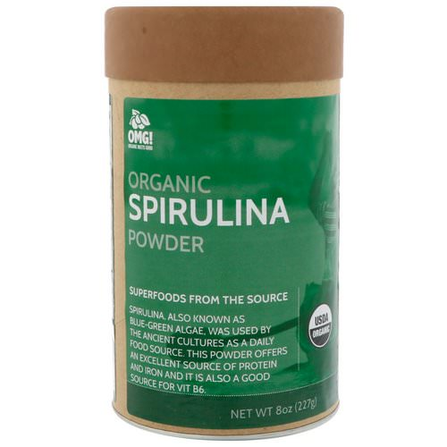 OMG! Organic Meets Good, Organic, Spirulina Powder, 8 oz (227 g) Review
