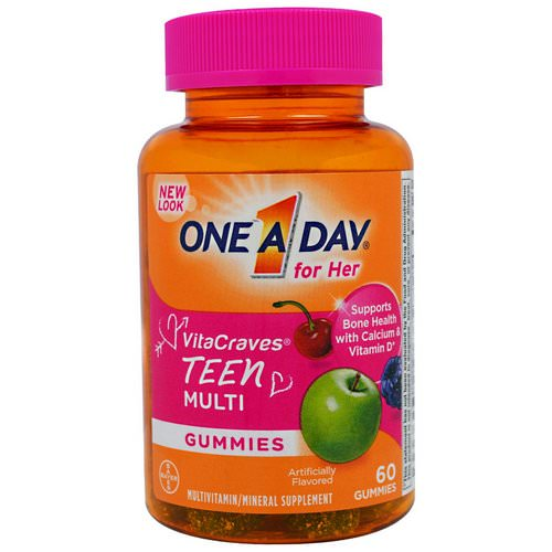 One-A-Day, For Her, VitaCraves, Teen Multi, 60 Gummies Review