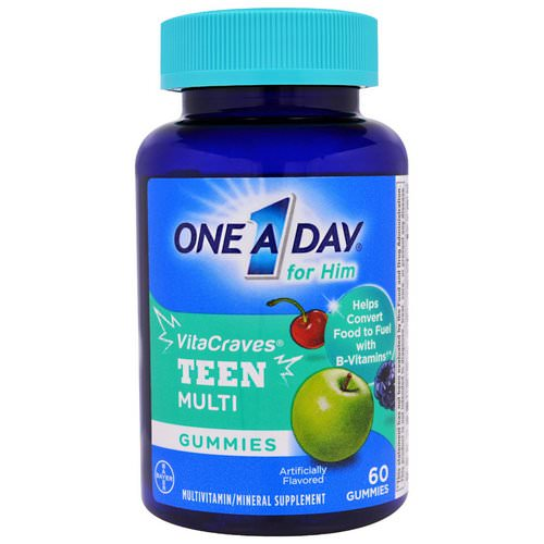 One-A-Day, For Him, VitaCraves, Teen Multi, 60 Gummies Review