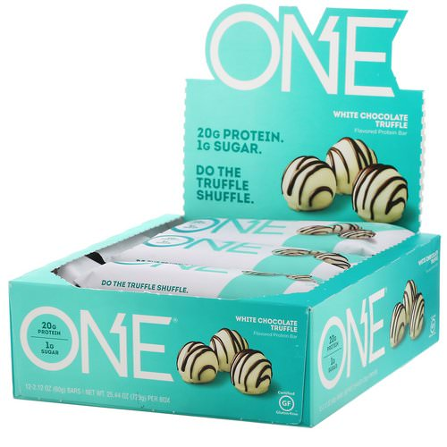 One Brands, One Bar, White Chocolate Truffle, 12 Bars, 2.12 oz (60 g) Each Review