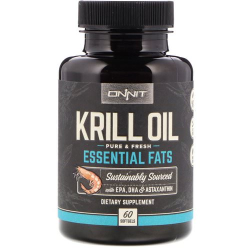 Onnit, Krill Oil, Essential Fats, 60 Softgels Review