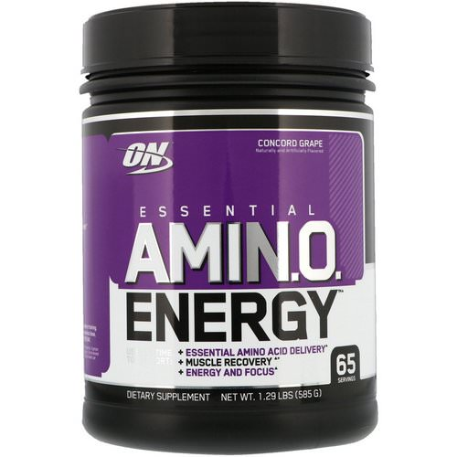 Optimum Nutrition, Essential Amin.O. Energy, Concord Grape, 1.29 lbs (585 g) Review