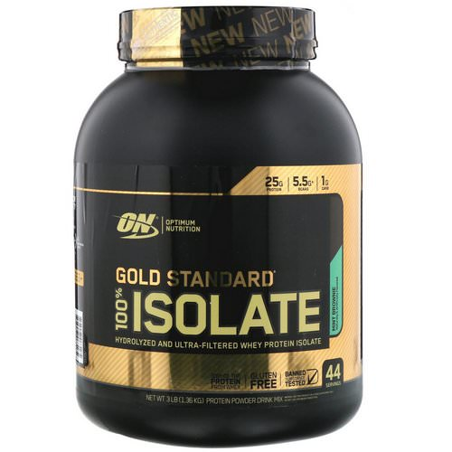 Optimum Nutrition, Gold Standard, 100% Isolate, Mint Brownie, 3 lb (1.36 kg) Review