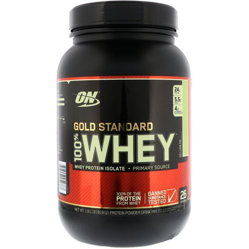 Optimum Nutrition, Gold Standard, 100% Whey, Key Lime Pie, 1.81 lb (819 g) Review