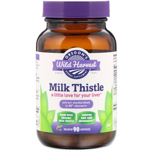 Oregon's Wild Harvest, Milk Thistle, 90 Gelatin Capsules Review
