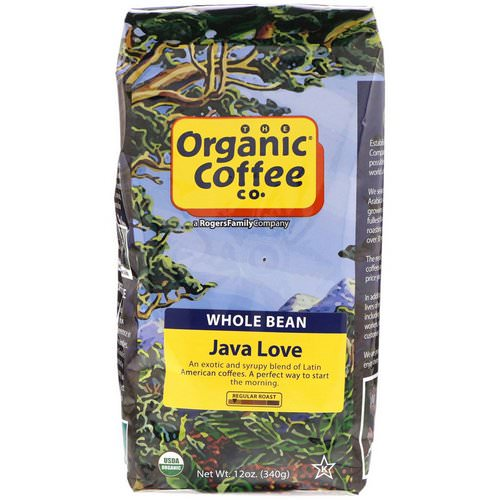 Organic Coffee Co, Java Love, Whole Bean Coffee, Regular Roast, 12 oz (340 g) Review
