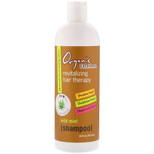 Organic Excellence, Shampoo, Revitalizing Hair Therapy, Wild Mint, 16 fl oz (473 ml) Review
