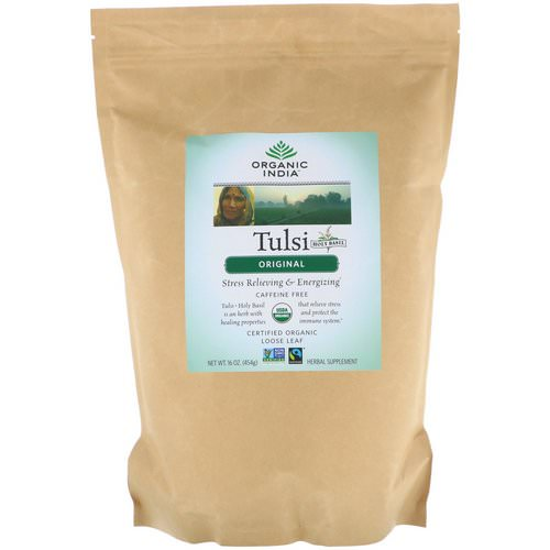 Organic India, Tulsi Loose Leaf Tea, Original, Caffeine-Free, 16 oz (454 g) Review