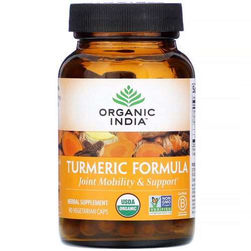 Organic India, Turmeric Formula, Joint Mobility & Support, 90 Vegetarian Caps Review