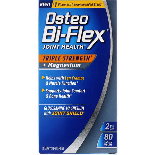 Osteo Bi-Flex, Joint Health, Triple Strength + Magnesium, 80 Coated Tablets Review