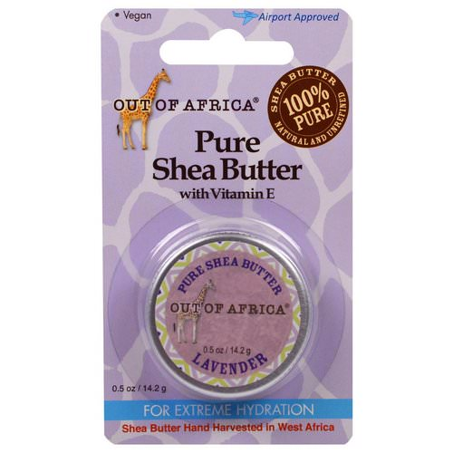 Out of Africa, Pure Shea Butter with Vitamin E, Lavender, 0.5 oz (14.2 g) Review