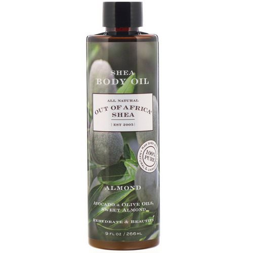 Out of Africa, Shea Body Oil, Almond, 9 fl oz (266 ml) Review