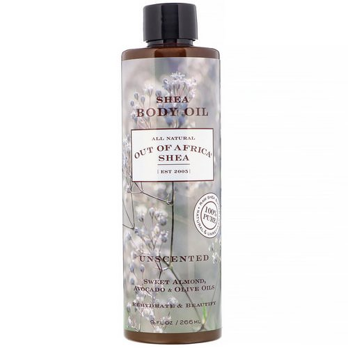 Out of Africa, Shea Body Oil, Unscented, 9 fl oz (266 ml) Review