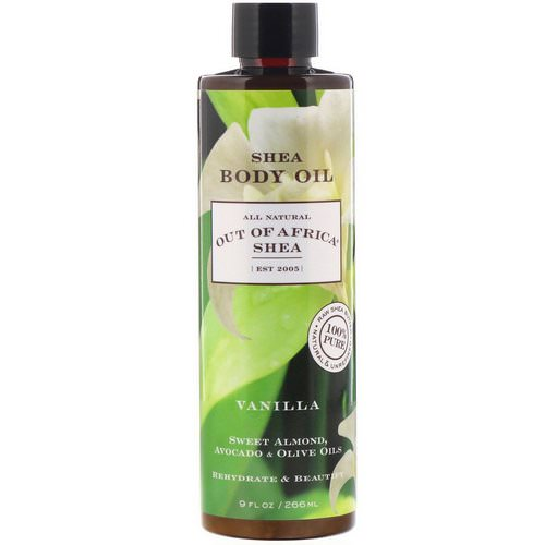Out of Africa, Shea Body Oil, Vanilla, 9 fl oz (266 ml) Review