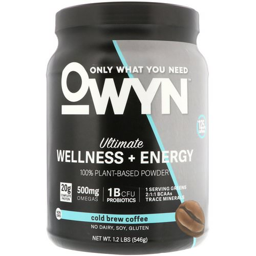 OWYN, Ultimate Wellness + Energy, 100% Plant-Based Powder, Cold Brew Coffee, 1.2 lb (546 g) Review