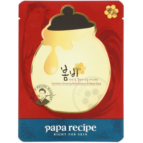 Papa Recipe, Bombee Ginseng Red Honey Oil Mask, 1 Mask, 20 g Review