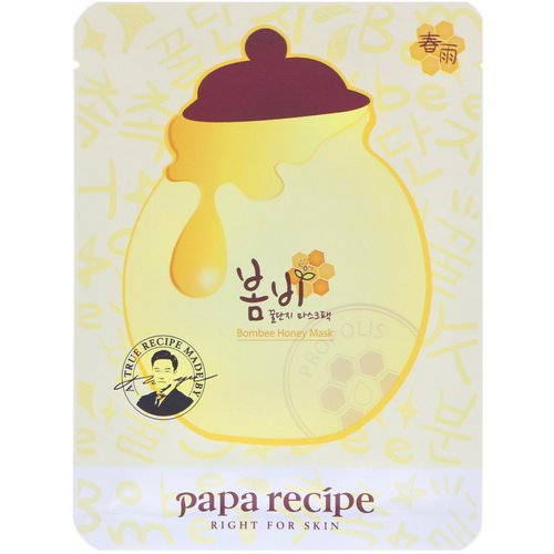 Papa Recipe, Bombee Honey Mask Pack, 10 Masks, 25 g Each Review